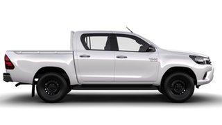 2016 Toyota Hilux GUN126R SR (4x4) Glacier White 6 Speed Automatic Dual Cab Utility.