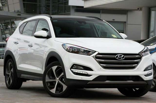 New Hyundai Tucson TLE2 MY18 Highlander D-CT AWD, 2018 Hyundai Tucson TLE2 MY18 Highlander D-CT AWD Pure White 7 Speed Sports Automatic Dual Clutch