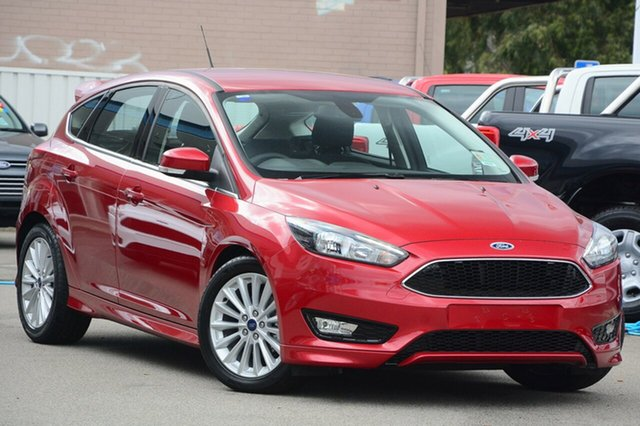 New Ford Focus LZ Sport, 2017 Ford Focus LZ Sport Red Candy 6 Speed Automatic Hatchback