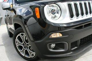2016 Jeep Renegade BU Limited Black 6 Speed Auto Dual Clutch Wagon.