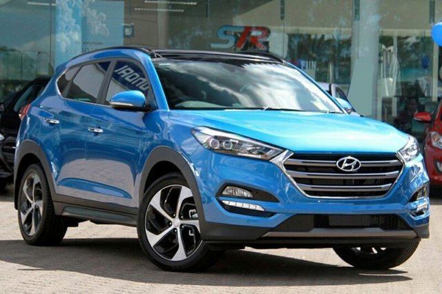 New Hyundai Tucson TLE2 MY18 Highlander AWD, 2018 Hyundai Tucson TLE2 MY18 Highlander AWD Ara Blue 6 Speed Sports Automatic Wagon