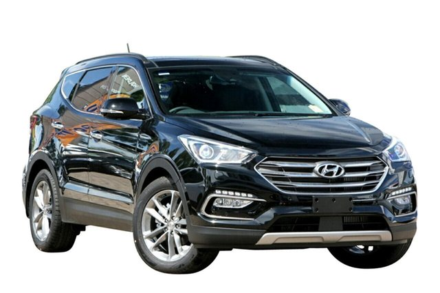 New Hyundai Santa Fe DM5 MY18 Highlander Albion, 2017 Hyundai Santa Fe DM5 MY18 Highlander Phantom Black 6 Speed Sports Automatic Wagon