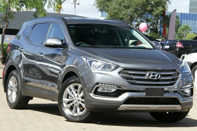 Demo Hyundai Santa Fe DM3 MY17 Elite Albion, 2016 Hyundai Santa Fe DM3 MY17 Elite Titanium Silver 6 Speed Sports Automatic Wagon