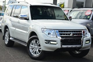 2018 Mitsubishi Pajero NX MY18 GLS Warm White 5 Speed Sports Automatic Wagon.