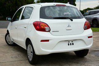 2017 Mitsubishi Mirage LA MY17 ES White 1 Speed Constant Variable Hatchback.