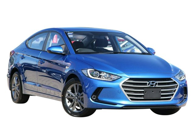 Demo Hyundai Elantra AD MY18 Active Albion, 2017 Hyundai Elantra AD MY18 Active Marina Blue 6 Speed Sports Automatic Sedan