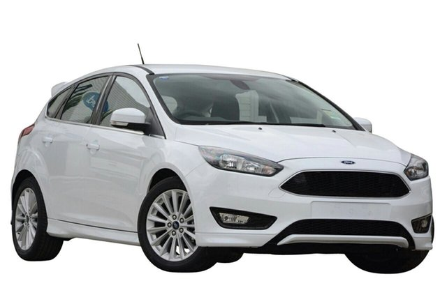 New Ford Focus LZ Sport, 2018 Ford Focus LZ Sport Frozen White 6 Speed Automatic Hatchback