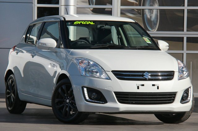 Demo Suzuki Swift FZ MY15 GLX Navigator, 2016 Suzuki Swift FZ MY15 GLX Navigator Pure White 4 Speed Automatic Hatchback