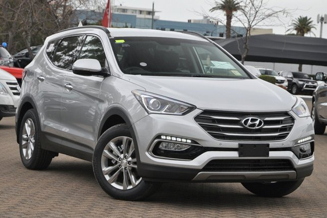 Demo Hyundai Santa Fe DM3 MY17 Elite Albion, 2016 Hyundai Santa Fe DM3 MY17 Elite Platinum Silver 6 Speed Sports Automatic Wagon
