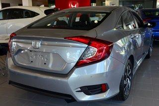 2019 Honda Civic 10th Gen MY19 VTi-S Lunar Silver 1 Speed Constant Variable Sedan.