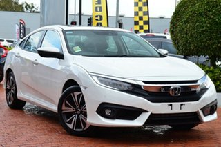 2018 Honda Civic 10th Gen MY18 VTi-LX White Orchid 1 Speed Constant Variable Sedan.