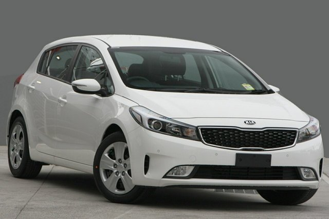 New Kia Cerato YD MY18 S, 2018 Kia Cerato YD MY18 S Clear White 6 Speed Sports Automatic Hatchback