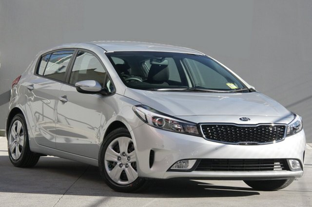 New Kia Cerato YD MY18 S, 2018 Kia Cerato YD MY18 S Silky Silver 6 Speed Sports Automatic Hatchback