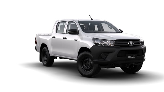 New Toyota Hilux GUN125R MY19 Workmate (4x4), 2018 Toyota Hilux GUN125R MY19 Workmate (4x4) Glacier White 6 Speed Manual Double Cab Pickup