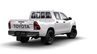 2018 Toyota Hilux GUN125R MY19 Workmate (4x4) Glacier White 6 Speed Manual Double Cab Pickup.