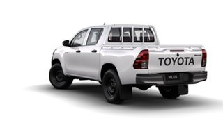 2018 Toyota Hilux GUN125R MY19 Workmate (4x4) Glacier White 6 Speed Manual Double Cab Pickup