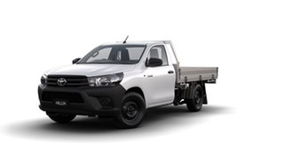 2018 Toyota Hilux GUN122R Workmate 4x2 Glacier White 5 Speed Manual Cab Chassis