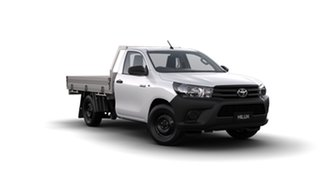 2018 Toyota Hilux GUN122R Workmate 4x2 Glacier White 5 Speed Manual Cab Chassis.