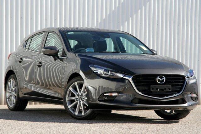 New Mazda 3 BN5438 SP25 SKYACTIV-Drive GT, 2018 Mazda 3 BN5438 SP25 SKYACTIV-Drive GT Machine Grey 6 Speed Sports Automatic Hatchback