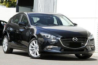 2018 Mazda 3 BN5438 SP25 SKYACTIV-Drive Jet Black 6 Speed Sports Automatic Hatchback.