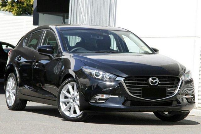 New Mazda 3 BN5438 SP25 SKYACTIV-Drive, 2018 Mazda 3 BN5438 SP25 SKYACTIV-Drive Jet Black 6 Speed Sports Automatic Hatchback