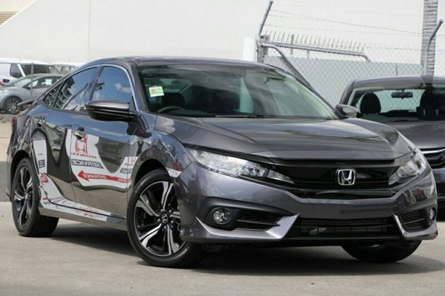 New Honda Civic 10th Gen MY18 RS, 2018 Honda Civic 10th Gen MY18 RS Modern Steel 1 Speed Constant Variable Sedan