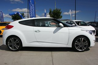 2017 Hyundai Veloster FS5 Series II Coupe Crystal White 6 Speed Manual Hatchback.
