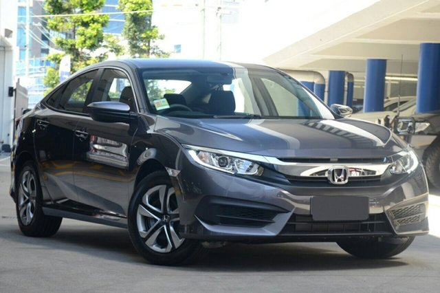 New Honda Civic 10th Gen MY19 VTi, 2019 Honda Civic 10th Gen MY19 VTi Modern Steel 1 Speed Constant Variable Sedan