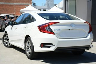 2019 Honda Civic 10th Gen MY19 VTi Platinum White 1 Speed Constant Variable Sedan.