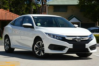 2018 Honda Civic 10th Gen MY18 VTi White Orchid 1 Speed Constant Variable Sedan.