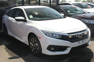 2019 Honda Civic 10th Gen MY19 VTi-S Platinum White 1 Speed Constant Variable Sedan.