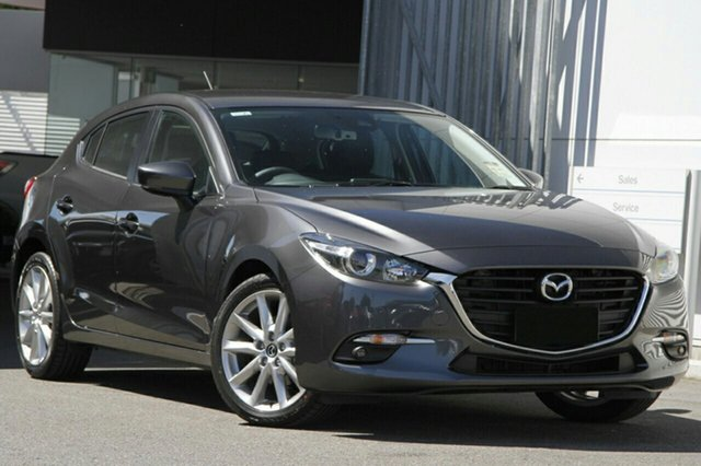 New Mazda 3 BN5438 SP25 SKYACTIV-Drive, 2018 Mazda 3 BN5438 SP25 SKYACTIV-Drive Machine Grey 6 Speed Sports Automatic Hatchback