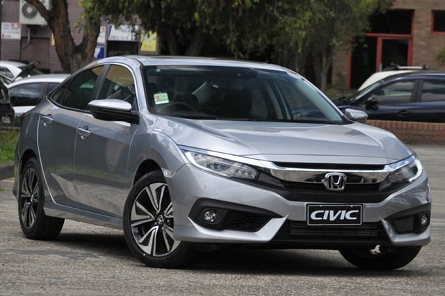 New Honda Civic 10th Gen MY19 VTi-LX, 2019 Honda Civic 10th Gen MY19 VTi-LX Lunar Silver 1 Speed Constant Variable Sedan