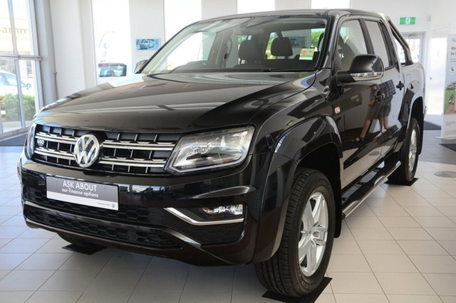 New Volkswagen Amarok 2H MY19 TDI550 4MOTION Perm Highline, 2019 Volkswagen Amarok 2H MY19 TDI550 4MOTION Perm Highline Deep Black Pearl Effect 8 Speed