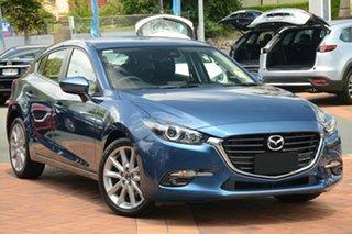 2018 Mazda 3 BN5438 SP25 SKYACTIV-Drive Eternal Blue 6 Speed Sports Automatic Hatchback.