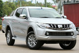 2018 Mitsubishi Triton MQ MY18 GLS Double Cab Sterling Silver 6 Speed Manual Utility.