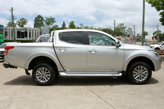 2018 Mitsubishi Triton MQ MY18 GLS Double Cab Sterling Silver 6 Speed Manual Utility