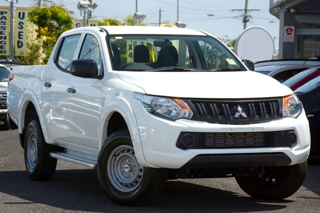 New Mitsubishi Triton MQ MY18 GLX Double Cab, 2018 Mitsubishi Triton MQ MY18 GLX Double Cab White 6 Speed Manual Utility