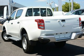 2017 Mitsubishi Triton MQ MY17 GLX Double Cab White 5 Speed Sports Automatic Utility.