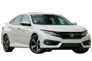 2018 Honda Civic 10th Gen MY18 RS White Orchid 1 Speed Constant Variable Sedan.
