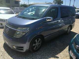 2002 Nissan Elgrand E51 Highway Star Blue 5 Speed Automatic Wagon.