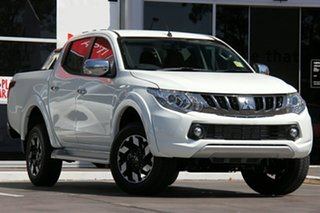 2018 Mitsubishi Triton MQ MY18 Exceed White 5 Speed Automatic.