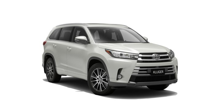 New Toyota Kluger GSU55R Grande AWD North Lakes, 2019 Toyota Kluger GSU55R Grande AWD Crystal Pearl 8 Speed Sports Automatic Wagon