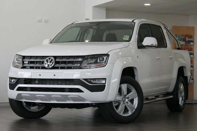 New Volkswagen Amarok 2H MY19 TDI550 4MOTION Perm Highline, 2019 Volkswagen Amarok 2H MY19 TDI550 4MOTION Perm Highline Candy White 8 Speed Automatic Utility