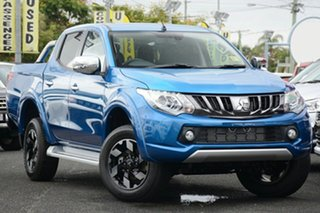 2018 Mitsubishi Triton MQ MY18 Exceed Double Cab Impulse Blue 5 Speed Sports Automatic Utility.
