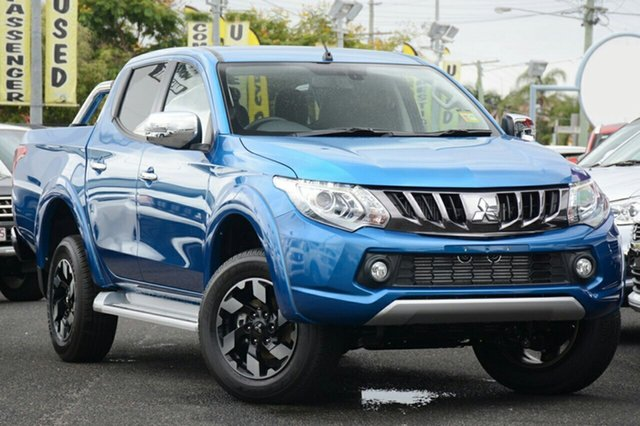 New Mitsubishi Triton MQ MY18 Exceed Double Cab, 2018 Mitsubishi Triton MQ MY18 Exceed Double Cab Impulse Blue 5 Speed Sports Automatic Utility
