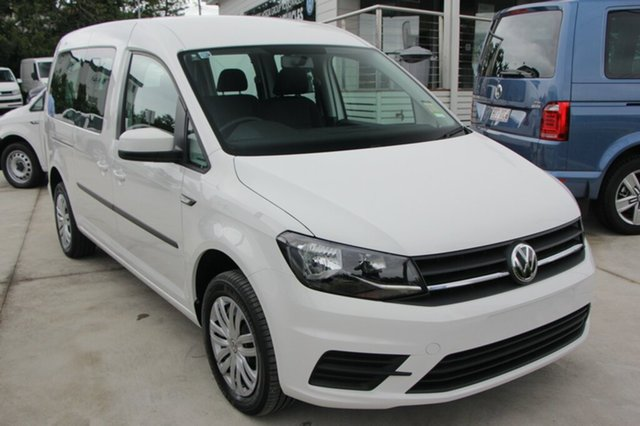 New Volkswagen Caddy 2K MY20 TSI220 Maxi DSG Trendline Newstead, 2020 Volkswagen Caddy 2K MY20 TSI220 Maxi DSG Trendline Candy White 7 Speed