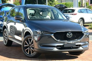2021 Mazda CX-5 KF4WLA Akera SKYACTIV-Drive i-ACTIV AWD Machine Grey 6 Speed Sports Automatic Wagon.