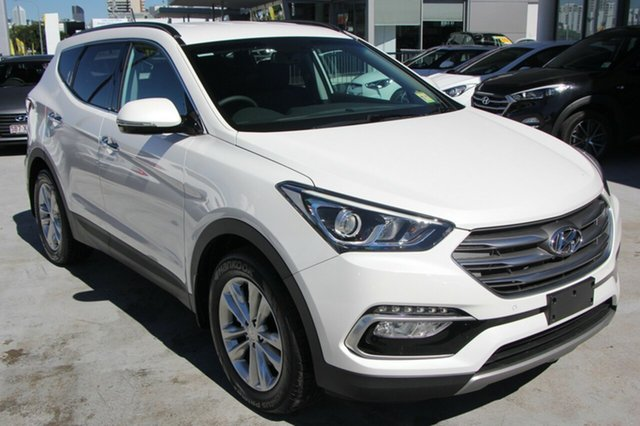 New Hyundai Santa Fe TM MY19 Elite, 2018 Hyundai Santa Fe TM MY19 Elite White Cream 8 Speed Sports Automatic Wagon