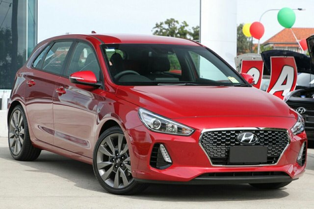 New Hyundai i30 PD MY18 SR D-CT, 2017 Hyundai i30 PD MY18 SR D-CT Fiery Red 7 Speed Sports Automatic Dual Clutch Hatchback